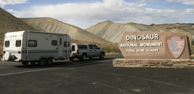 Trailer at Dinosaur Natl monument
