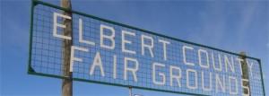 Elbert County fair grounds sign